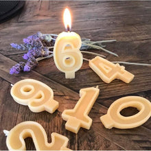 Load image into Gallery viewer, BLAKE + MASON Beeswax Birthday Candles - Numbers
