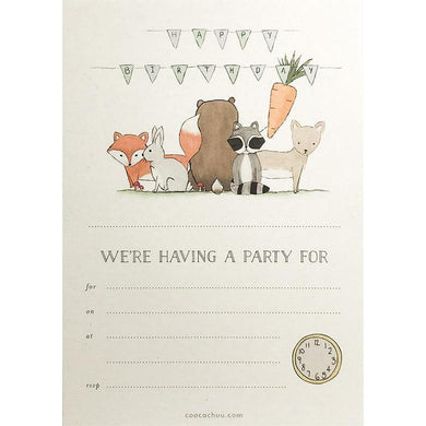 COOCACHUU Party Invitations - Birthday Bunting