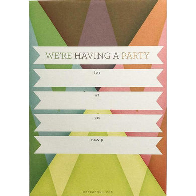 COOCACHUU Party Invitations - Prism