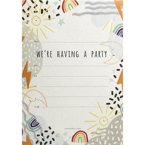COOCACHUU Party Invitations - Rainbows