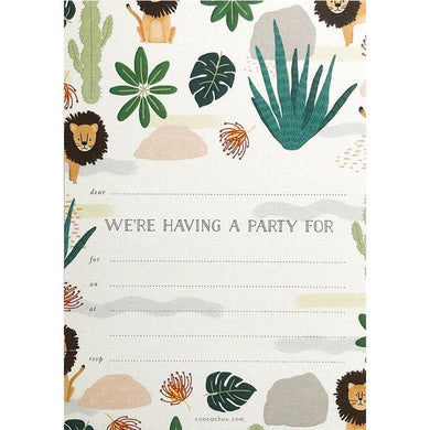 COOCACHUU Party Invitations - Safari