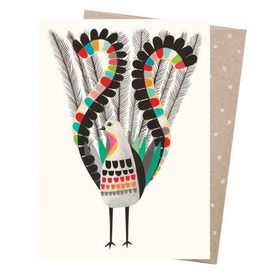 EARTH GREETINGS Card - Superb Lyrebird