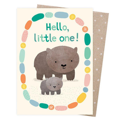 EARTH GREETINGS Card - Welcome Baby Wombat