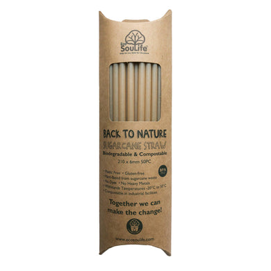 ECO SOUL LIFE Sugarcane Straws - 50pc