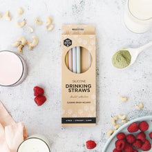 Load image into Gallery viewer, EVER ECO 4pc Pastel Silicone Straws