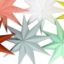 Load image into Gallery viewer, Hanging 3D Paper Stars, 30cm - Silver