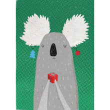 Load image into Gallery viewer, SURFING SLOTH Card - Christmas Koala