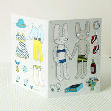 Load image into Gallery viewer, SURFING SLOTH Card - Dress-up Rabbits