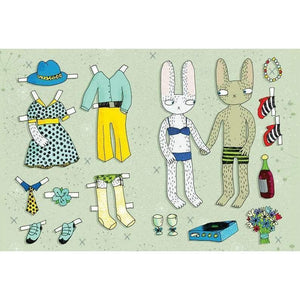 SURFING SLOTH Card - Dress-up Rabbits