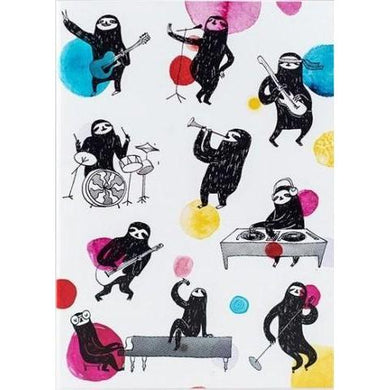 SURFING SLOTH Card - Music Sloths