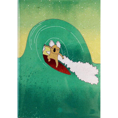 SURFING SLOTH Card - Surfing Koala