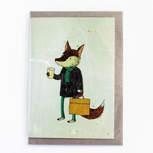 SURFING SLOTH Card - The Coffee Fox