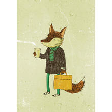 Load image into Gallery viewer, SURFING SLOTH Card - The Coffee Fox