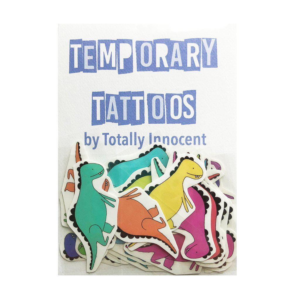 TOTALLY INNOCENT Temporary Tattoos, 10 pack - Dinosaurs