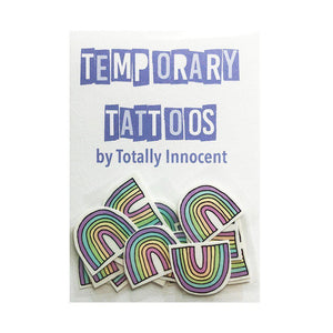TOTALLY INNOCENT Temporary Tattoos, 10 pack - Rainbows