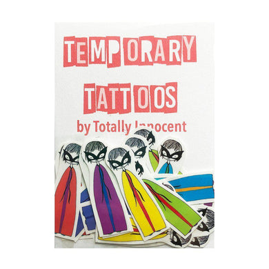 TOTALLY INNOCENT Temporary Tattoos, 10 pack - Superheroes