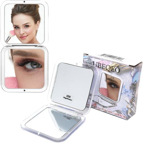 10x Magnifying Compact Folding Double Mirror | Pocket Size