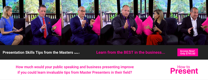 Tips from the Masters Series 2 - Michelle interviews 6 Master Presenters so YOU can use their secrets to transform your public speaking.