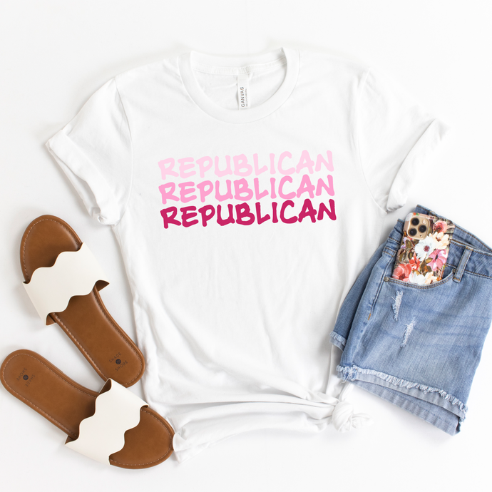 Pink Republican Summer Shirt