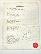 "Load image into Gallery viewer, JR's Original Lyric ""Counting Blue Cars"" Signed Lithograph"