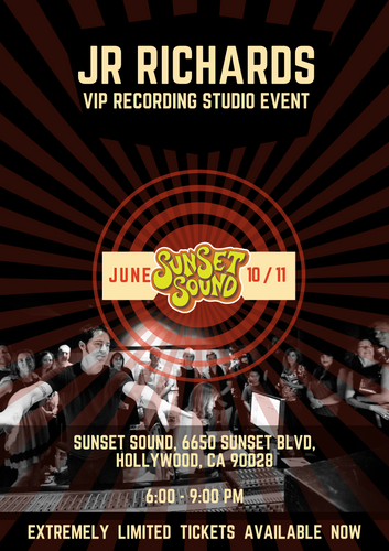 VIP Studio Recording Event (Wednesday June 10th) Hollywood, CA - LIMITED!