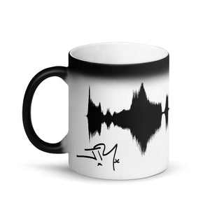 "JR's SOUNDWAVE Series - Matte Black Magic Mug - ""THIS LOVE WILL CARRY ON"""
