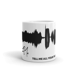 "JR's SOUNDWAVE Series Coffee Mug - ""Tell Me All Your Thoughts On God"""