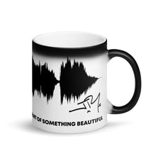"Load image into Gallery viewer, JR's SOUNDWAVE Series - Matte Black Magic Mug - ""Part of Something Beautiful"""