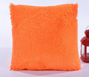 Furry Candy Pillow Cover
