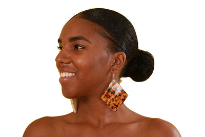 Asha Wooden Earrings - Accessories Nolafrique Accessories Necklace
