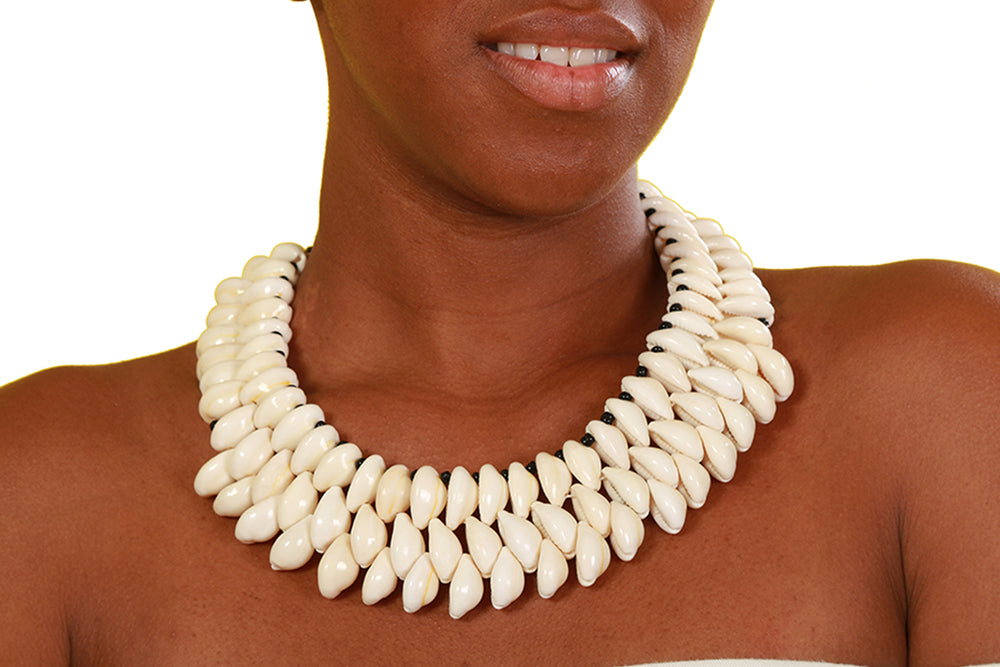 Triple Layered Cowrie Shell - Accessories Nolafrique Accessories Necklace
