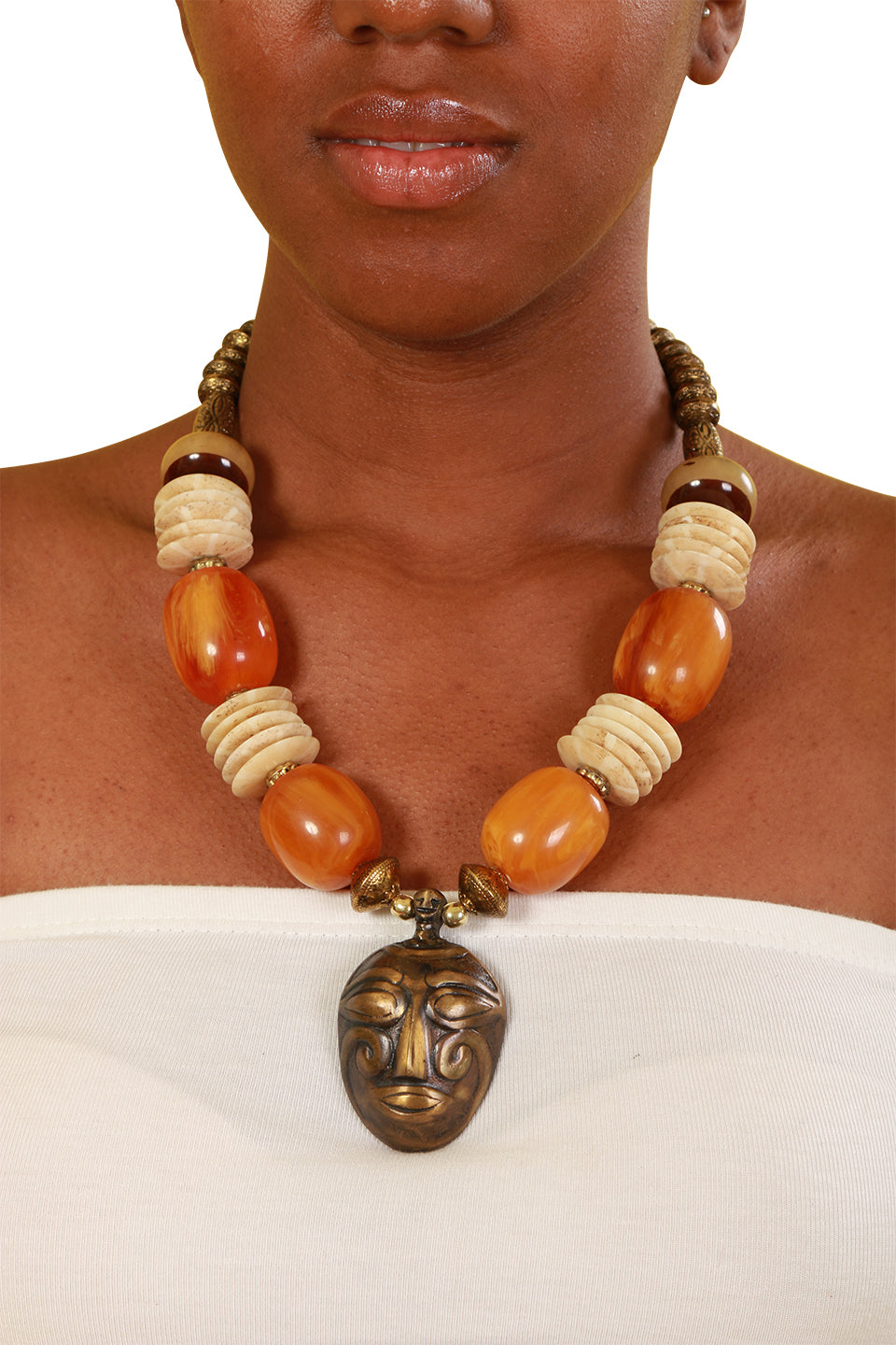 Ancestor Amber Necklace - Necklace Nolafrique Necklace