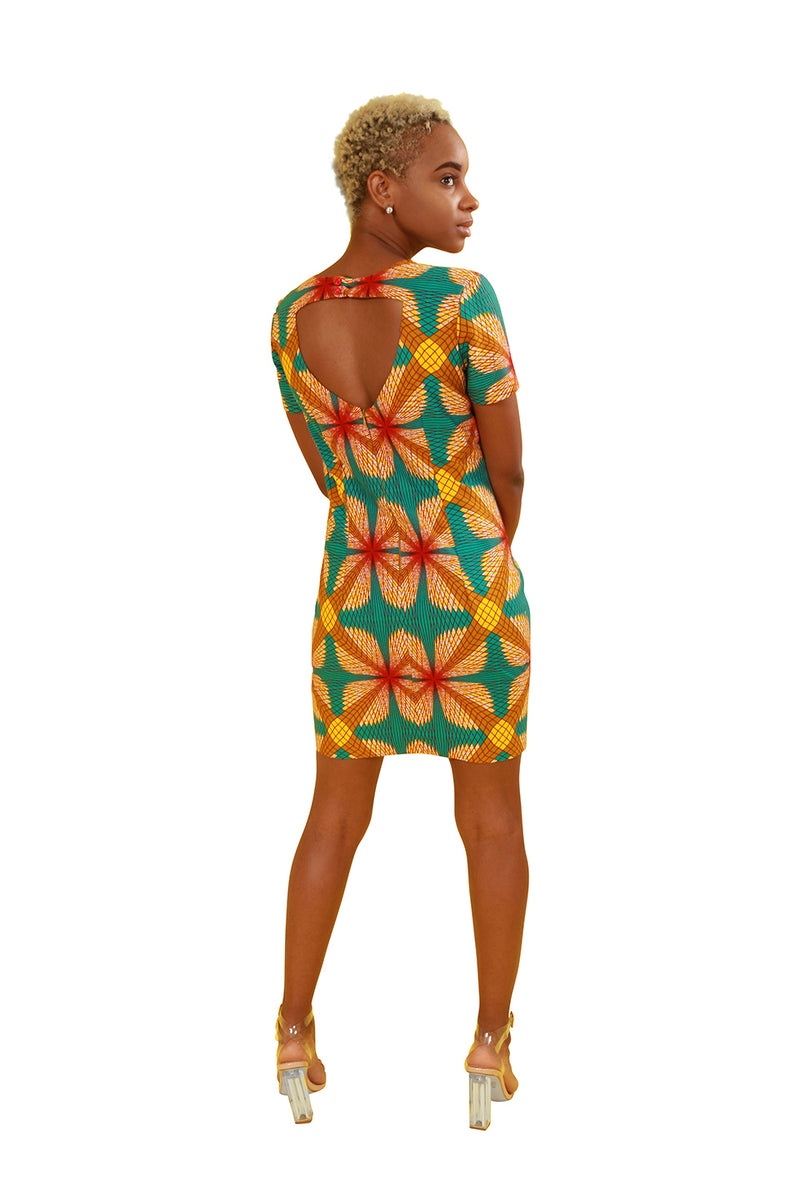 African Print Diamond Cut Out Dress - Custom Set Nolafrique African Print Dress Custom Afrian Print Dress Custom Set