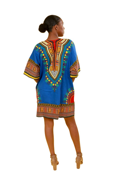 Over Size Dashiki Shirt Dress - Dress Nolafrique African Print Dress Dashiki Dress