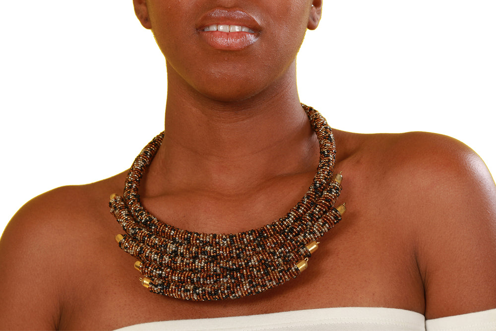 Latrice Beaded Necklace - Accessories Nolafrique Accessories Necklace