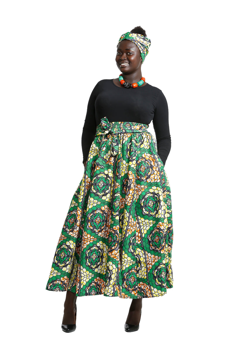 Mamiish  Maxi Skirt and Headwrap