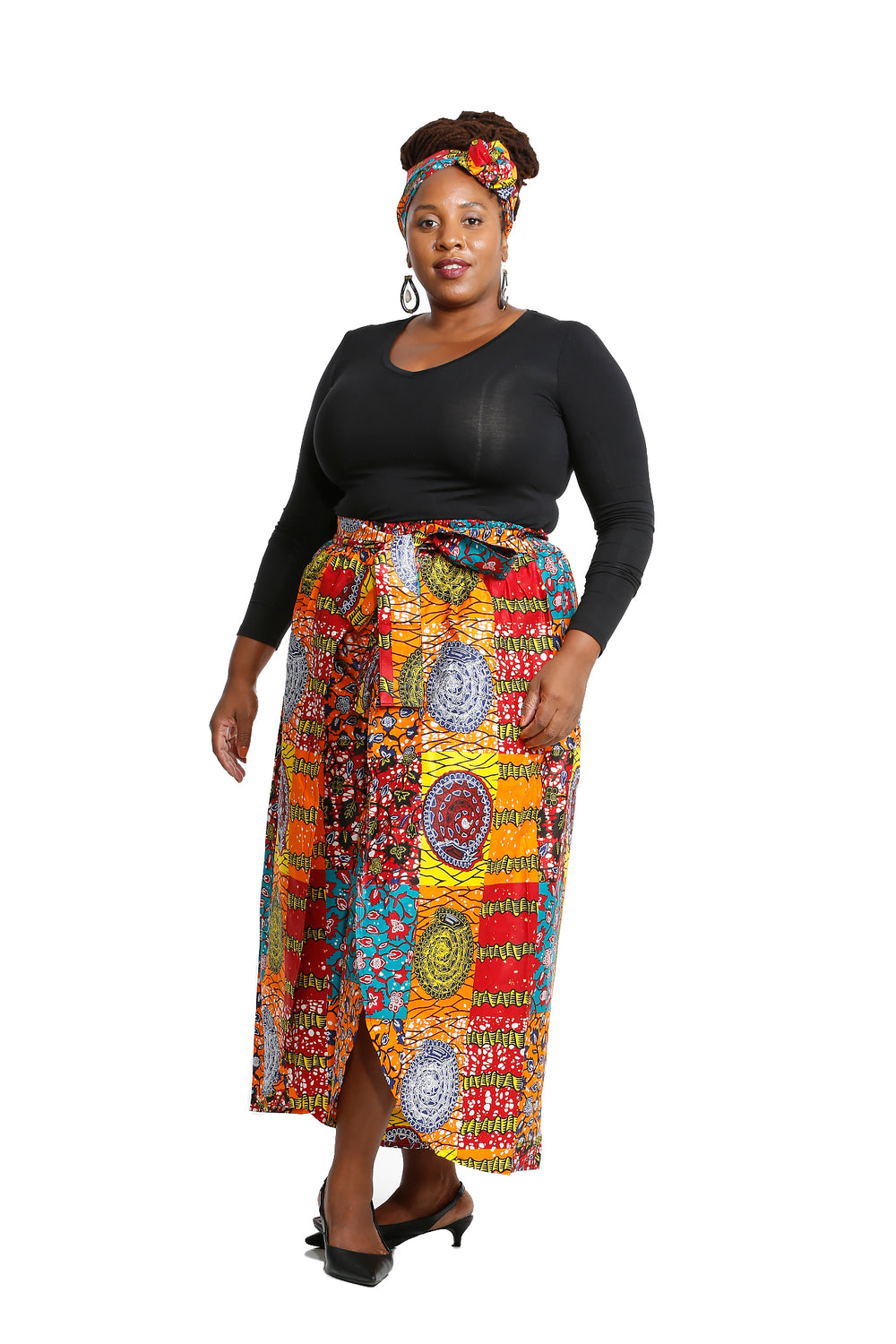 African Patchwork Overlap Pants - African Print Pants Nolafrique African Print Pants