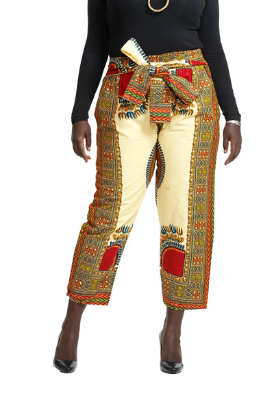Nqobile Straight Dashiki Pants - Print Pants Nolafrique African Print Pants