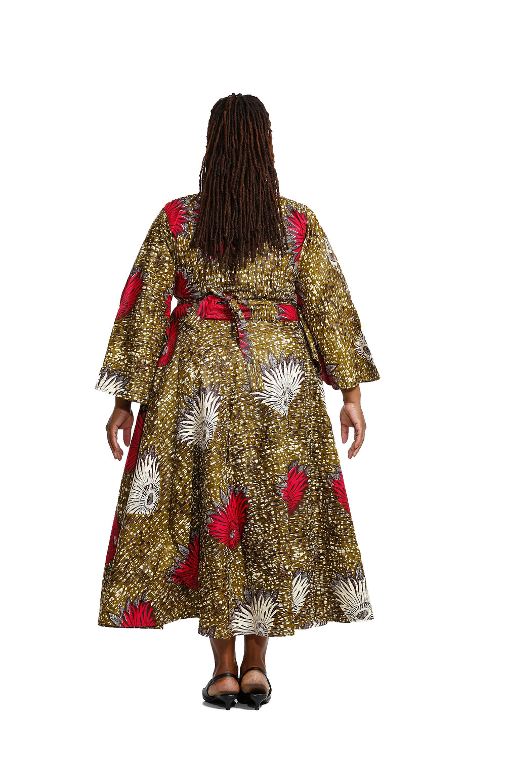 Sundaze African Print Wrap Around Dress - Wrap Dresses Nolafrique African Print Dress