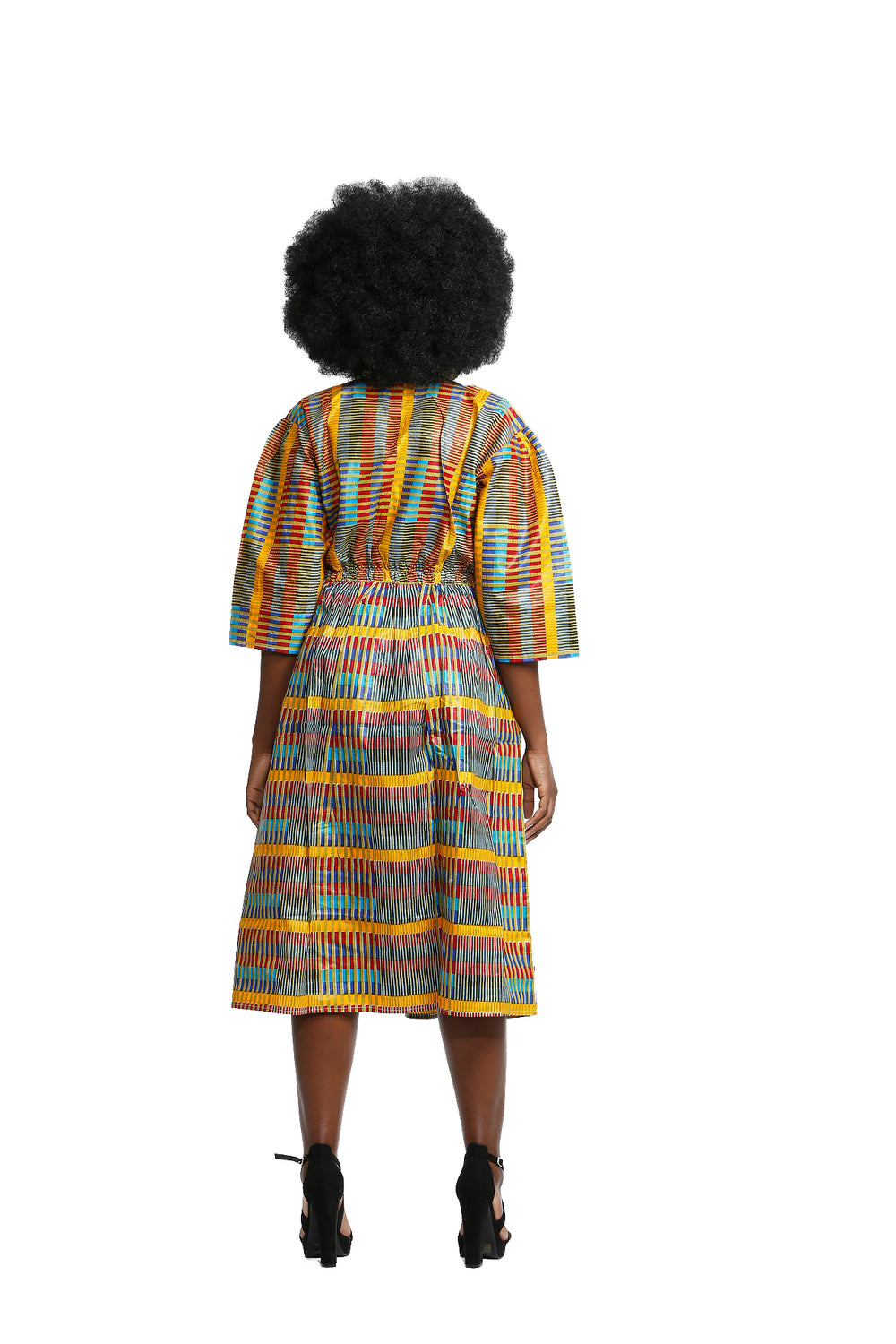 Prideful Woman Quarter Sleeve - Dress Nolafrique African Print Dress