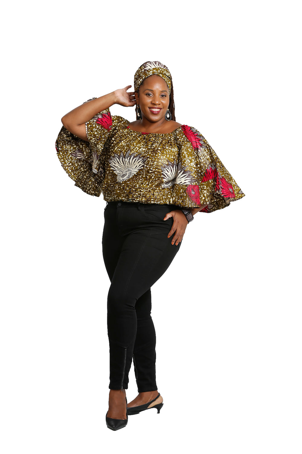 African Queen  Butterly Top and Headwrap