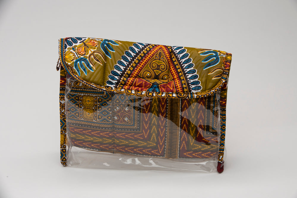 Olive Dashiki African Fabric Clutch - Bags Nolafrique Bags