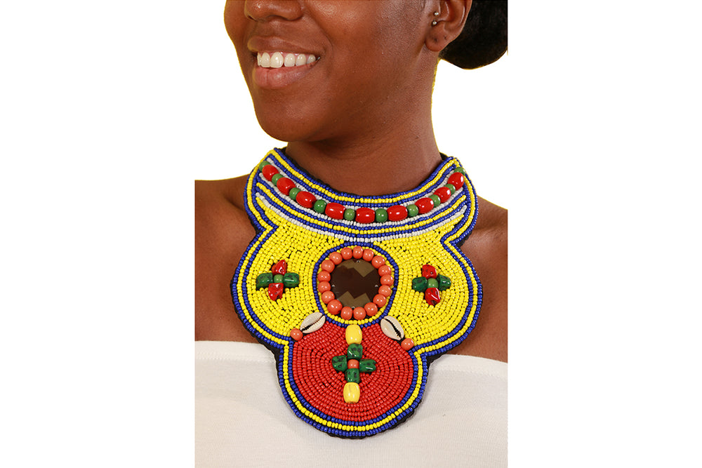 Queen Pumelela South African Beaded Necklace - Accessories Nolafrique Accessories Necklace