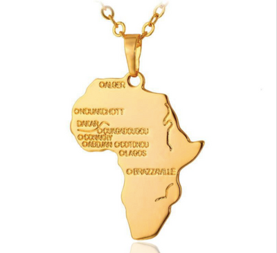 Mama Africa Gold Necklace - Necklace Nolafrique Necklace