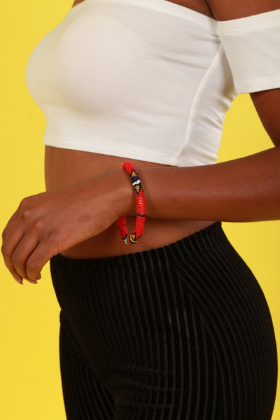 New Flame Round Beaded Bracelet - Accessories Nolafrique Accessories Bracelet