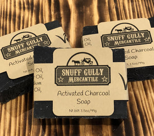 Activated Charcoal Soap - All Natural and 100% Vegan - L.A. Minerals