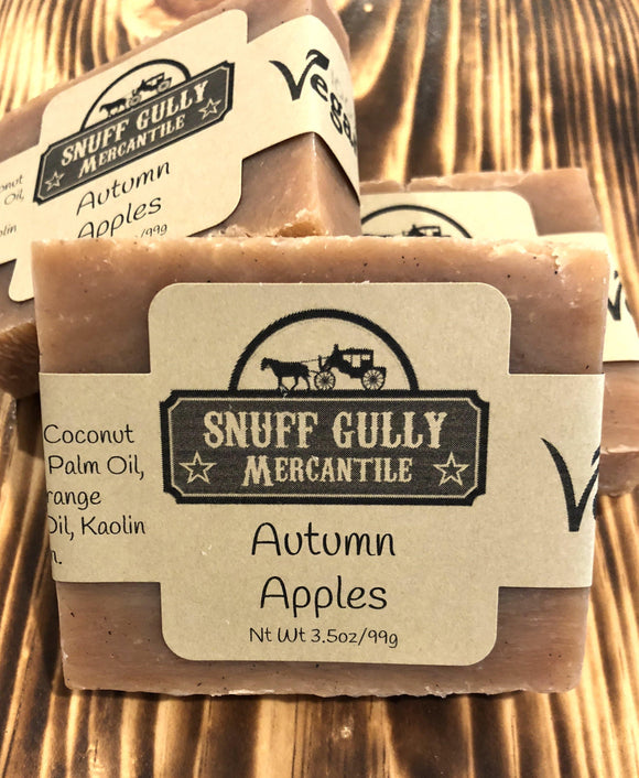 Autumn Apples All Natural Soap - 100% Vegan Ingredients - L.A. Minerals
