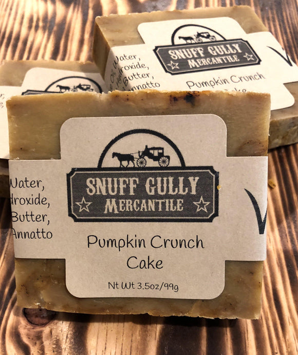Pumpkin Crunch Cake - All Natural Soap - Vegan - L.A. Minerals