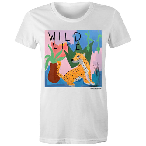 Women's Organic 'Wild Life' Tee | Musée x The Walking Creative