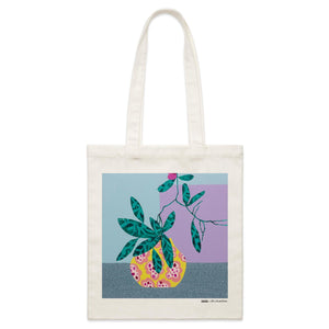 """Natural Habitat"" Parcel Canvas Tote Bag 